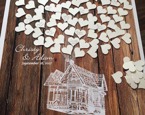 Libro de firmas para boda, una alternativa al árbol de huellas. (desde $46.00)