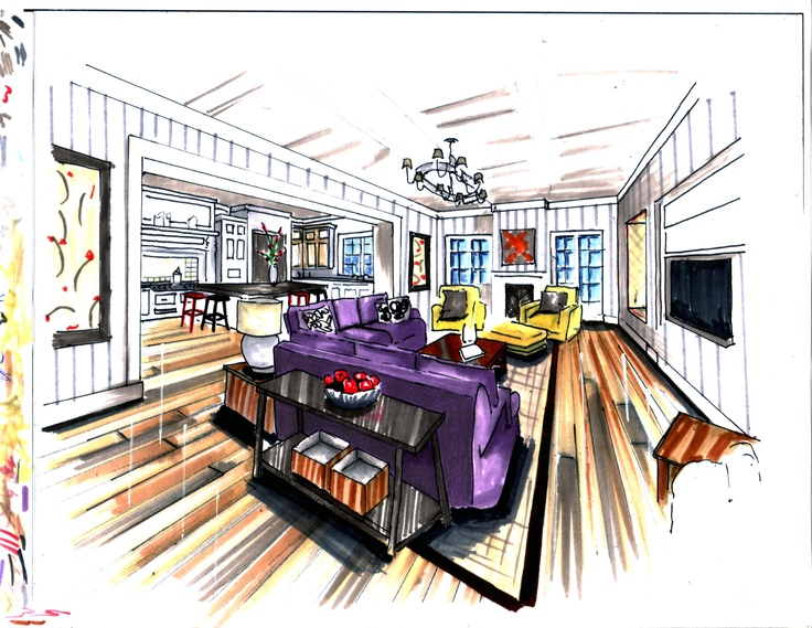 43 best interiors hand rendering images on pinterest for Interior design drawing tips