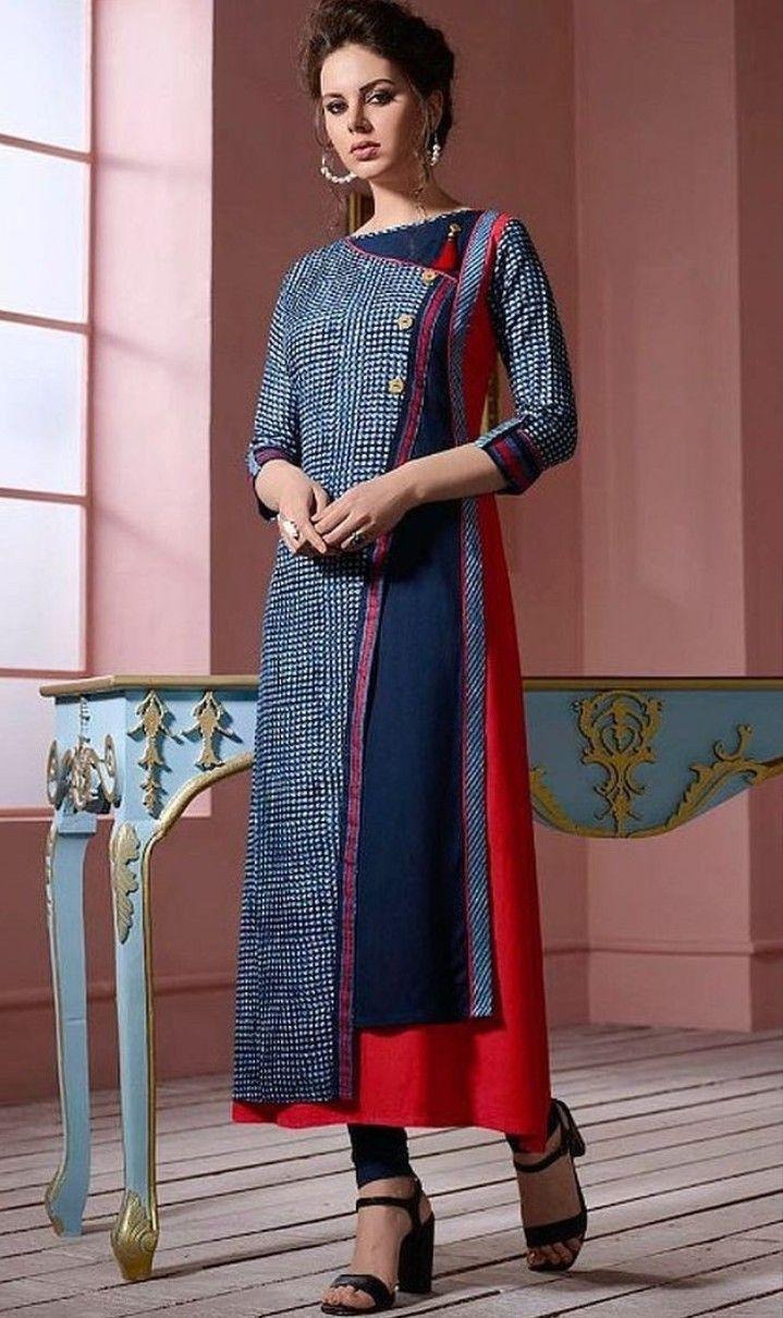 60ac0ba170 Cotton-Rayon Kurti. | Kurtis in 2019 | Indian designer wear, Kurti ...