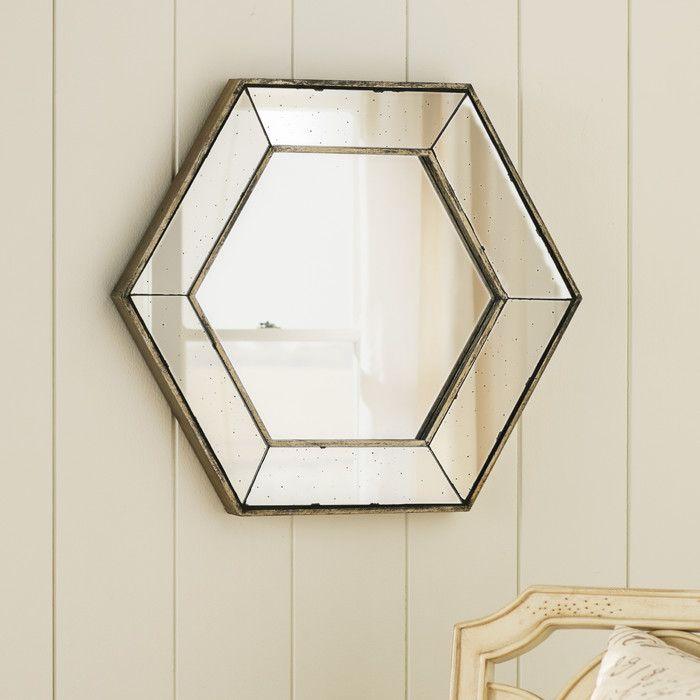 Lark Manor Gia Hexagon Wall Mirror & Reviews   Wayfair