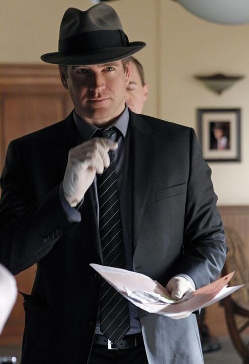"""Episode 250 tonight #ncis noir.... And a picture for your amusement"" ~Twitter / M_Weatherly"