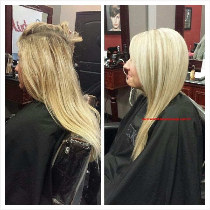 Blonde hair color long hair redken salon hair cut and for Salon redken