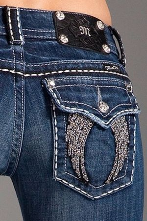 blinged out jeans! I love my Miss me jeans