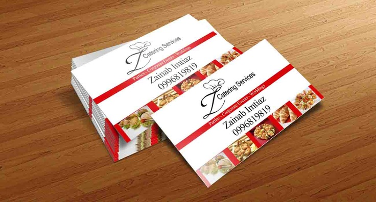 Z Catering business card   MY WORK   Pinterest   Business cards