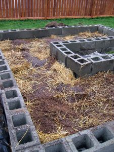 best post i've seen on raised cinderblock garden with what to put for your layers