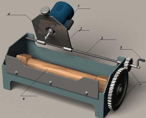 Схема станка для изготовления балясин