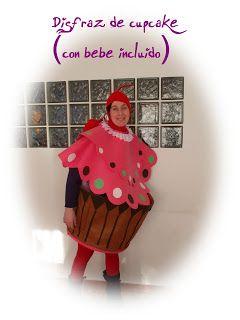 DISFRAZ DE CUPCAKE (Con bebe incluido) en caljoanymas.blogspot.com