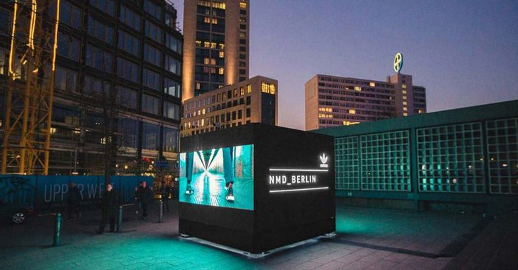 Adidas Originals campaign connects Europe through interactive cubes - Featuring nine large digital cubes in some of Europe's largest cities including London, Barcelona and Berlin the interactive cubes will advertise the new footwear and connect each of the cities together in real-time. The four interactive screens will advertise the new line by displaying photos which people have posted to Instagram using the #NMD hashtag.