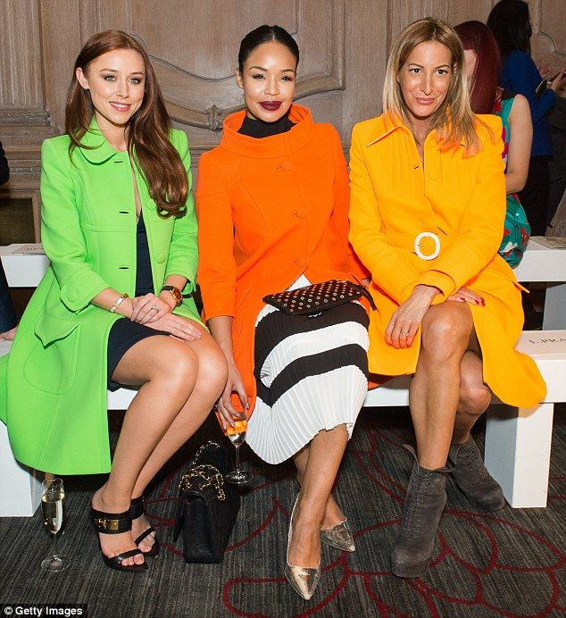 FROW friends: Una sat pretty on the front row alongside former Xtra Factor presenter Sarah...