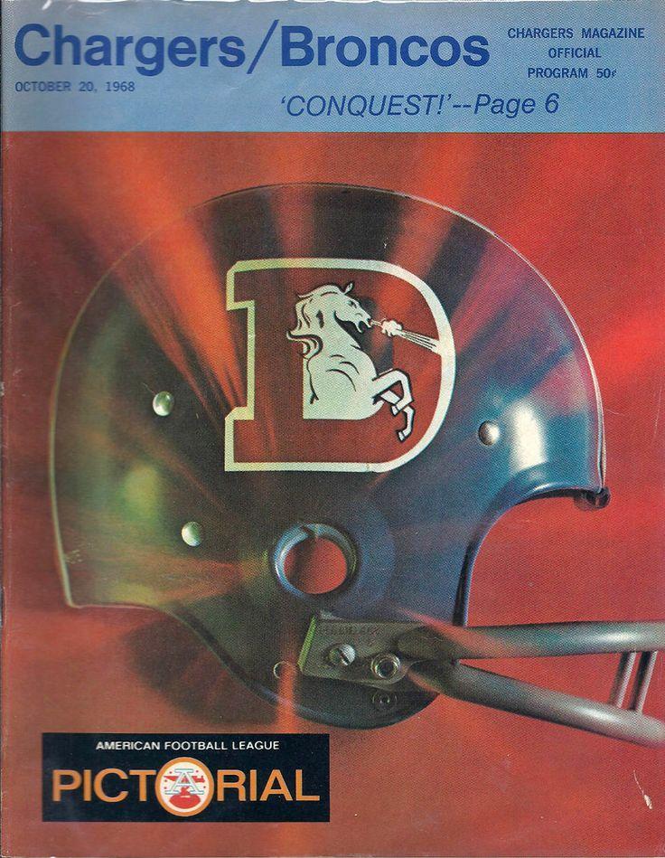 1968 game program - San Diego Chargers VS Denver Broncos