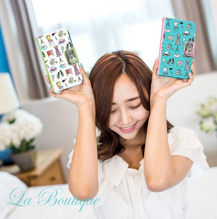 La Boutique Handmade Wallet Case for Galaxy S6 Edge Plus