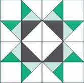 """""""Missouri Star Quilt Block"""" as usual her tutorials are easy to understand and she makes it fun and interesting."""