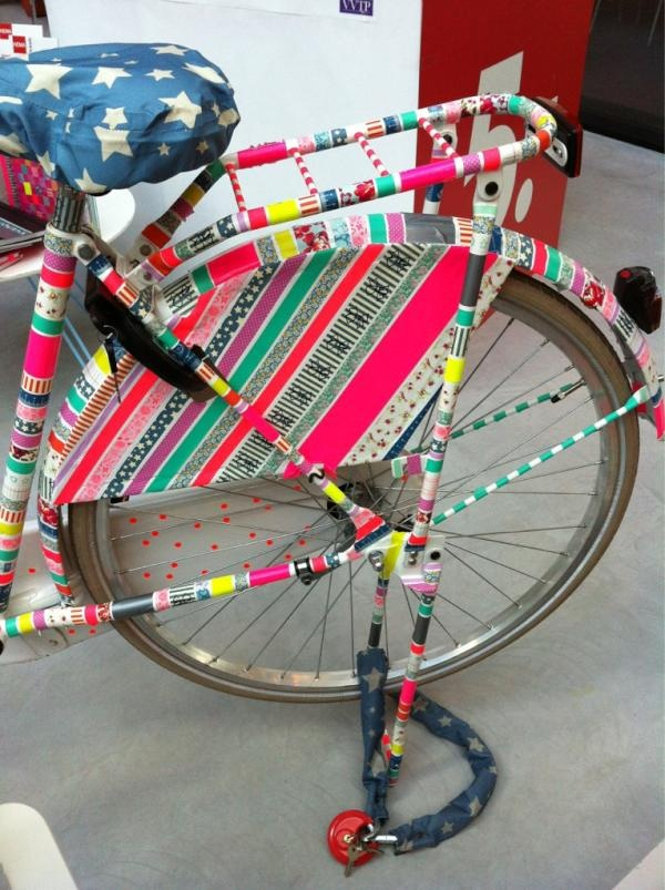 washi taped bicycle