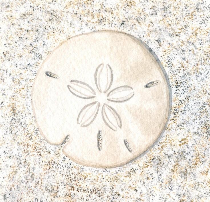 "Sand Dollar Painting, Original Nature Watercolor, Sandy Beach Art, Summer Seashore Home Decor, Sea Shell, Seashell, Beach Wall Art, 8"" X 10"". $40.00, via Etsy."