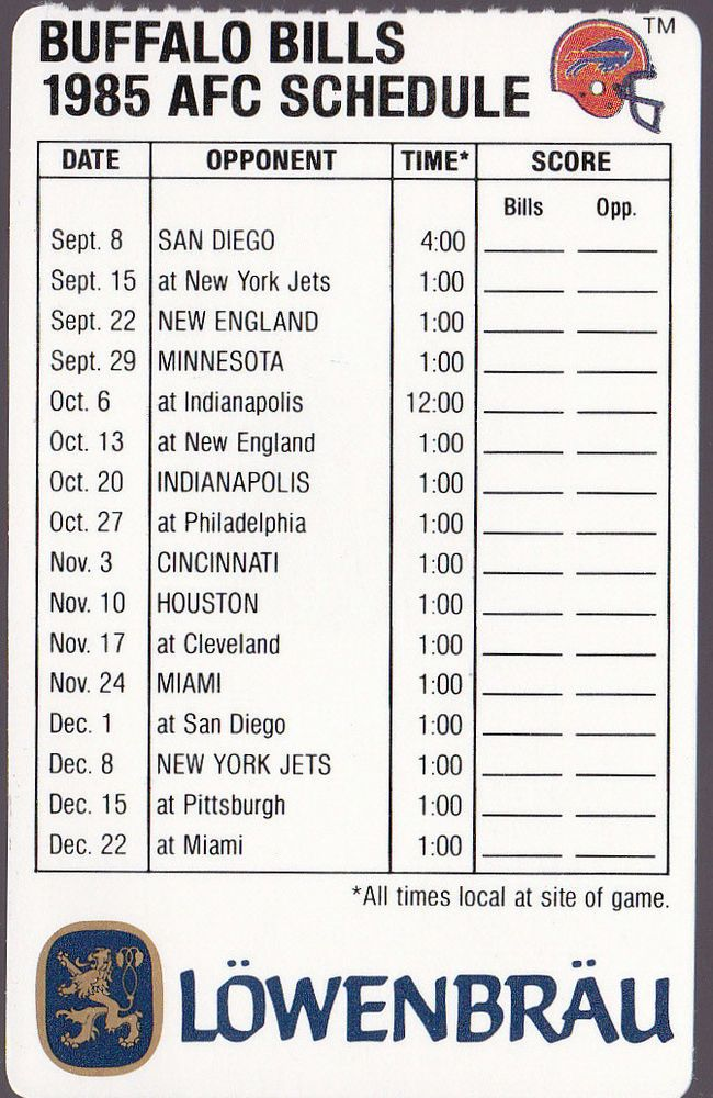 It is a photo of Crafty Buffalo Bills Printable Schedule