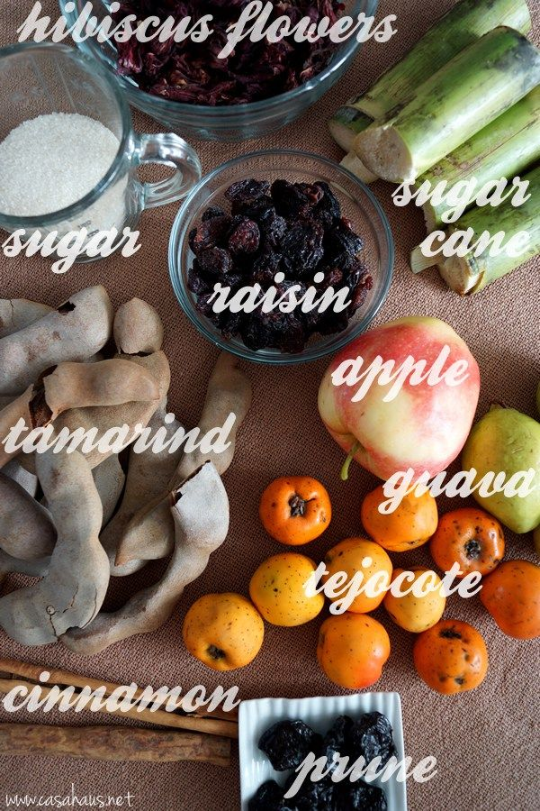 Mexican fruit punch ingredients / Ingredientes para el ponche de frutas mexicano // Casa Haus