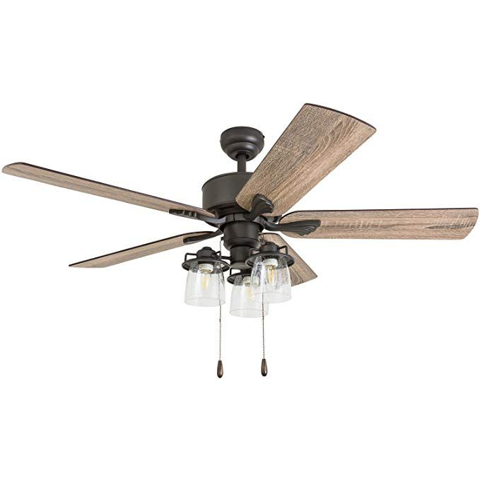 Prominence Home 50683 01 River Run Farmhouse Ceiling Fan 3 Speed Remote 52 Barnwood Tumbleweed Aged Bron Ceiling Fan With Light Fan Light Led Ceiling Fan
