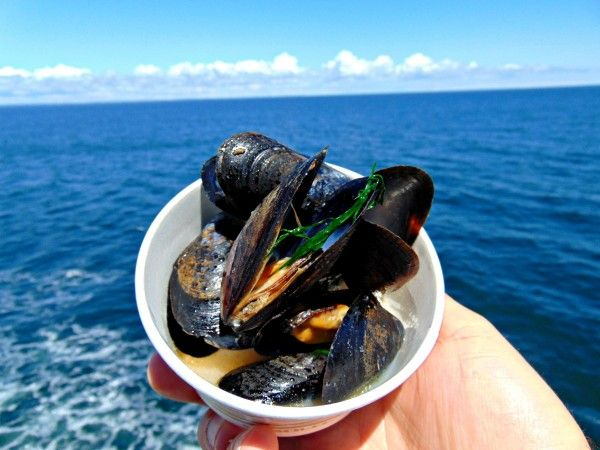 PEI Mussels cooked with local beer from Upstreet Brewery. Yum!