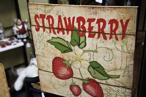 1831 best strawberry fields images on pinterest - Strawberry kitchen decorations ...