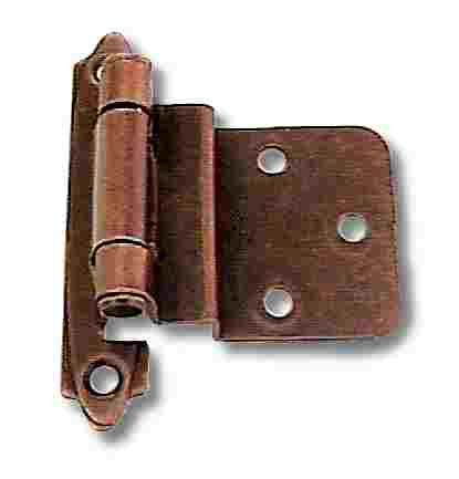"(Pair) 3/8"" Inset/Offset Hinges - Self Closing - Antique Copper $1.95/each"