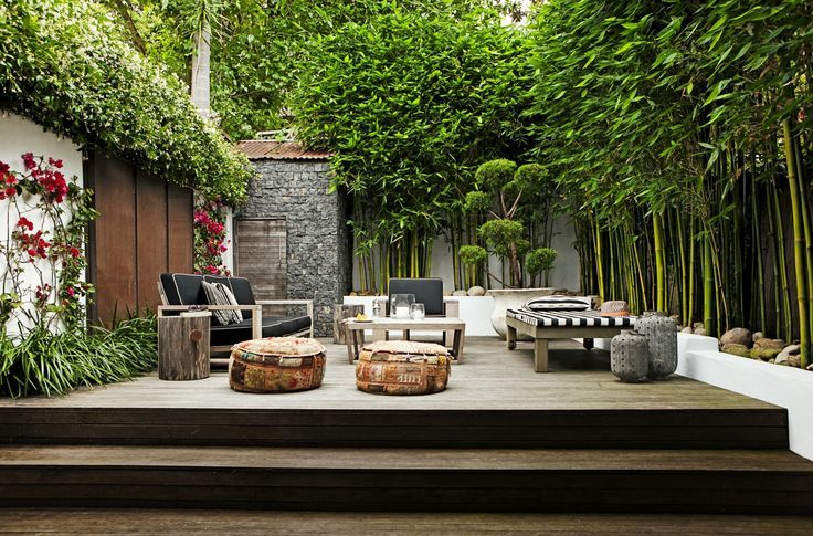 privacy in small city garden with walls & mature greenery, an escape in your own back yard