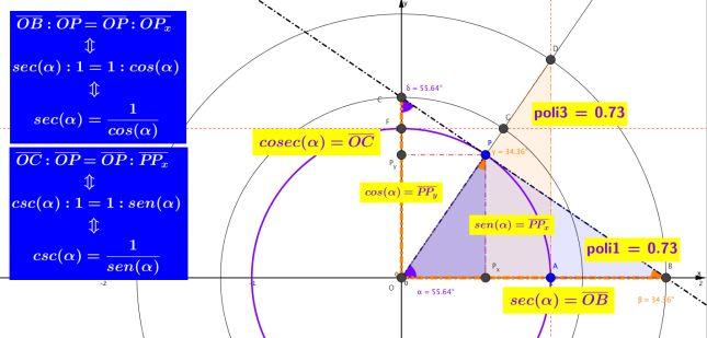 Definizione Grafica di Secante e Cosecante