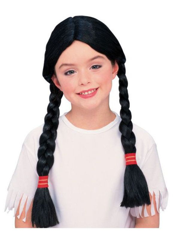 Check out Native American Wig - Girls Indian Wigs & Halloween Accessories from Costume Super Center