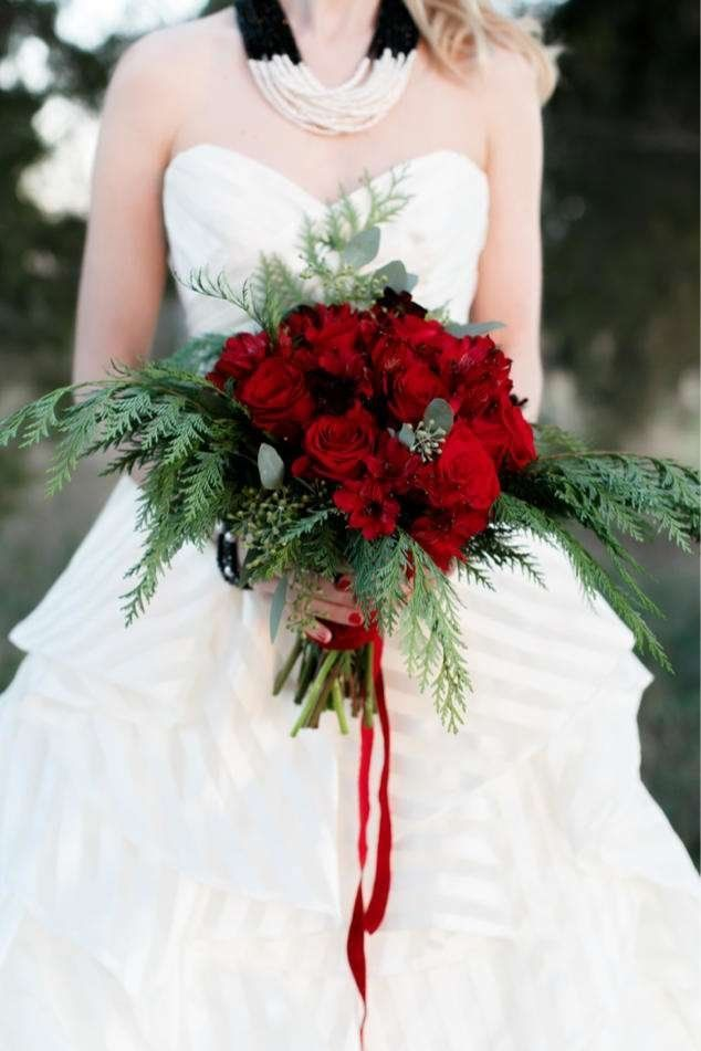 Merry and Bright Christmas Wedding Bouquets 251