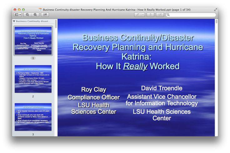 Business Continuity disaster Recovery Planning And