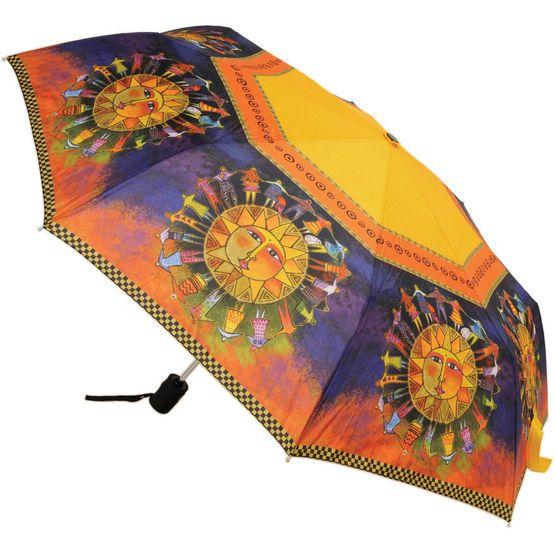 Laurel Burch Compact Umbrella- Harmony Under The Sun, , hi-res
