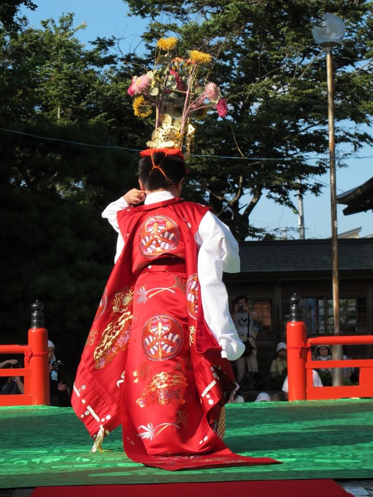 【還城楽】平成24年谷地どんがまつり1日目の舞楽奉奏。