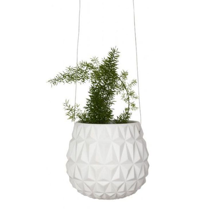 Triangle Porcelain Hanging Planter