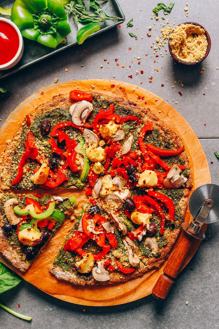 Vegan Cauliflower Pizza Crust | Minimalist Baker Recipes