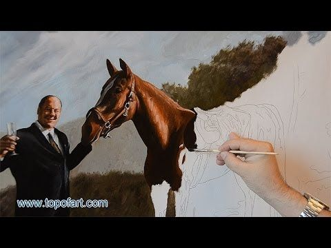 Pie-O-My | Tony Soprano with Horse | Oil Painting Portrait