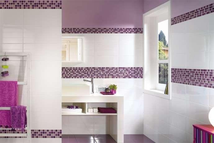 Bagni a mosaico, foto dei più colorati ed eleganti - Bagni a mosaico, il fuxia