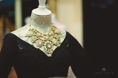two string necklace , bridal necklace set, jadau set , large chunky necklace , polki necklace ,