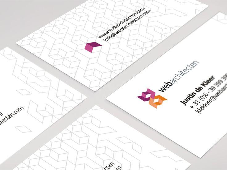Web Architecten business cards / logo design by Utopia Branding