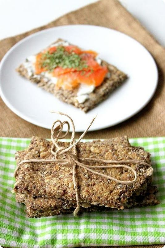 Knekkebrød - a cracker-y bread that can be eaten for a savory take on breakfast!