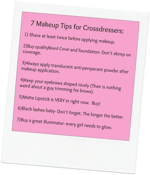 7 Top Make Up Tips for Crossdressers (Male to Female Transgender / Crossdressing Tips)