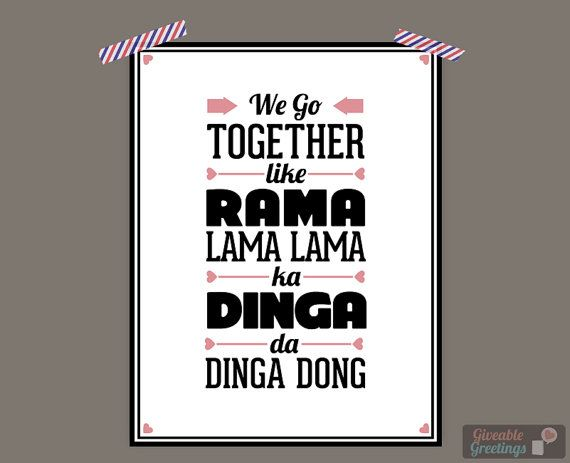 We Go Together Grease Lyrics Art Print by GiveableGreetings
