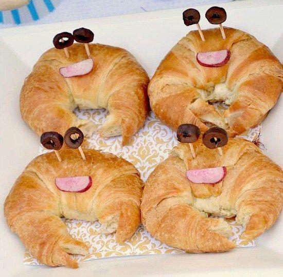 Crab Croissant Sandwiches