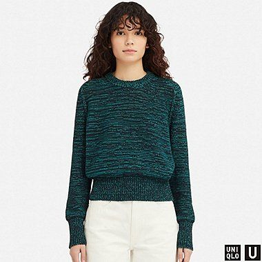 50b1c2562 Women u color mixed oversized sweater in 2019
