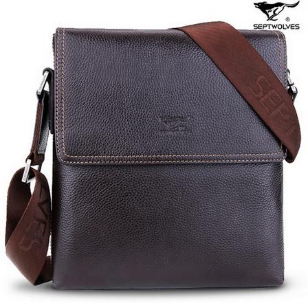 SEPTWOLVES Top Grade Leather Business Shoulder Bag for Men -  BAGSTORM, Backpack for students, fashion bags for women, suitcase for men