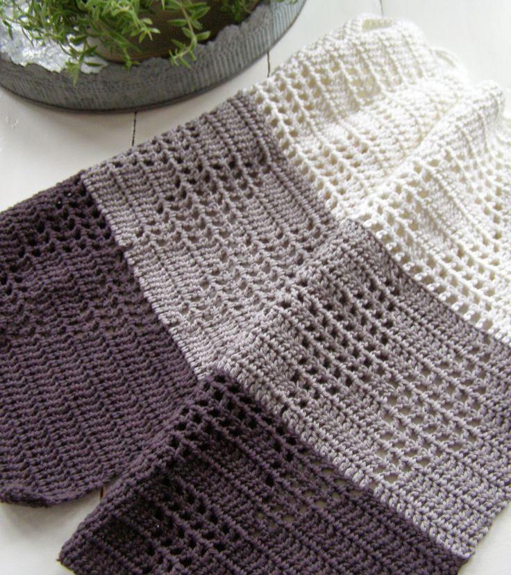 Flere små harlekin-håndklæder og link til de gamle.   Halager   Bloglovin'