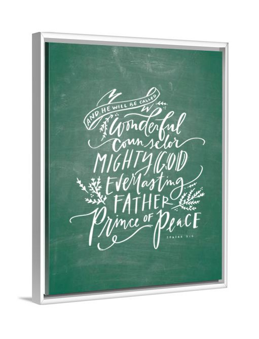 Christian Art - Wonderful Counselor (Isaiah 9:6) canvas art by Lindsay Letters.