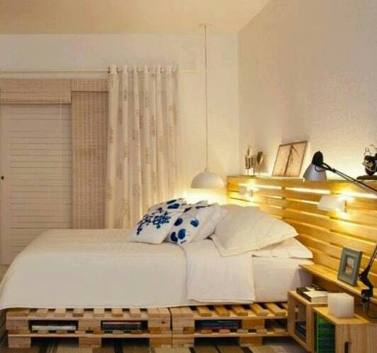 Cabecero con palets miscelanea pinterest - Cabeceros de cama con palets ...