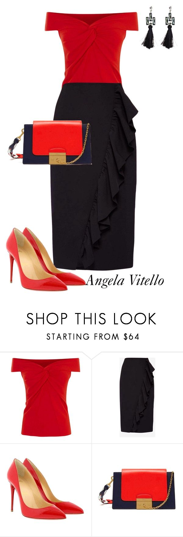Untitled #995 by angela-vitello on Polyvore featuring Ted Baker, Christian Louboutin and Mulberry being unfaithful limited offer,no tax and free shipping.#shoes #womenstyle #heels #womenheels #womenshoes  #fashionheels #redheels #louboutin #louboutinheels #christanlouboutinshoes #louboutinworld