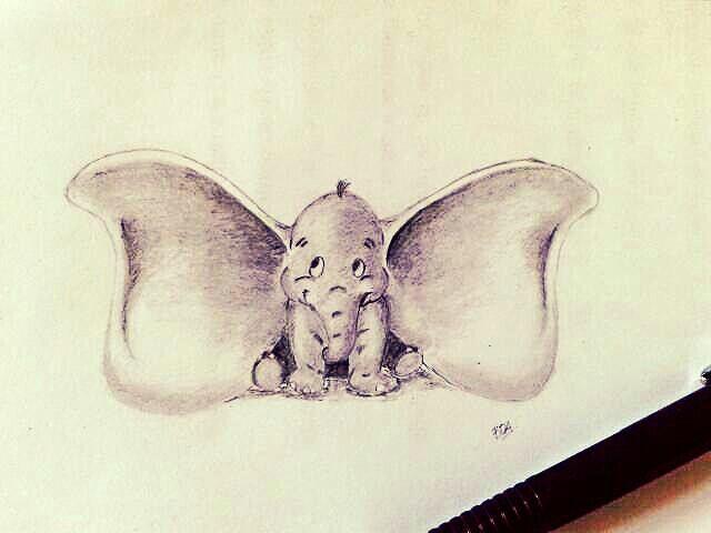 Dumbo #draw #ilustration #dumbo #pencil
