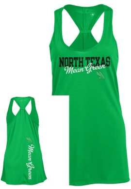 CHAMPION PRODUCTS : University of North Texas Mean Green Womens Swing Tank Top : U.N.T. Bookstore. I NEED THIS :)