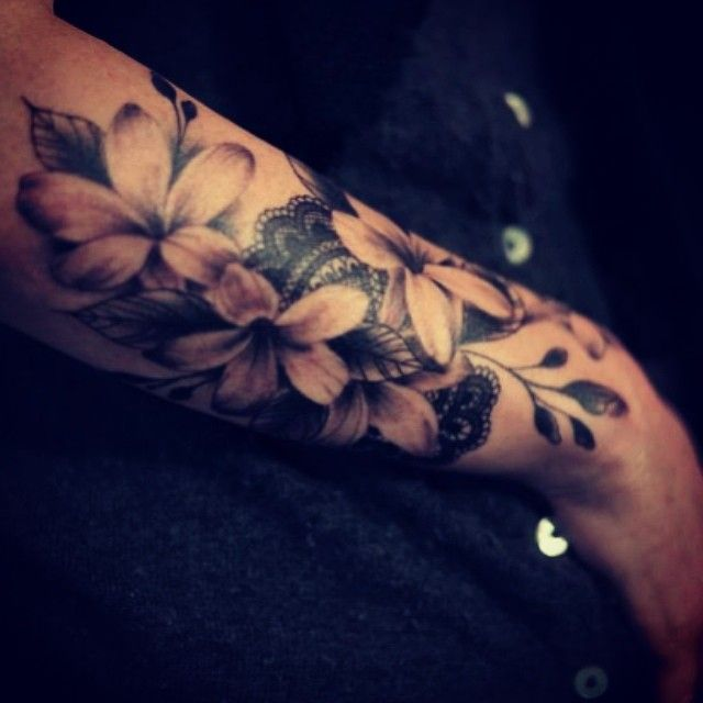 #flower #lace #tattoo by dodie...I need something like this up my thigh